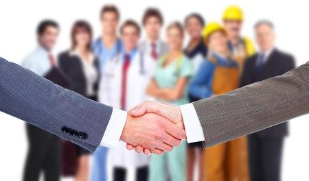 Business meeting Stretta di mano