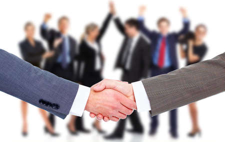 join hand: Business meeting  Handshake