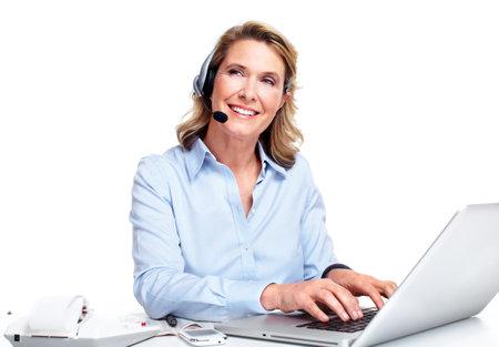 customer service representative: Customer service representative woman  Stock Photo