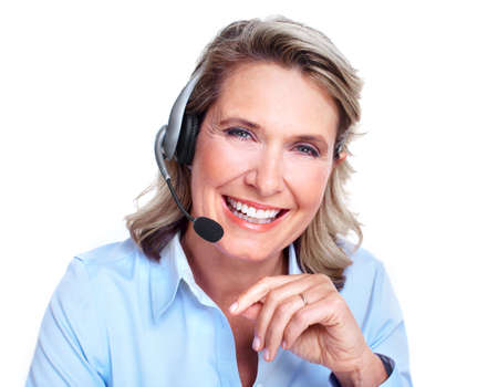customer: Customer service representative woman  Stock Photo