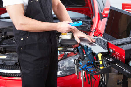 Professional auto mechanic  Stock Photo - 15412662