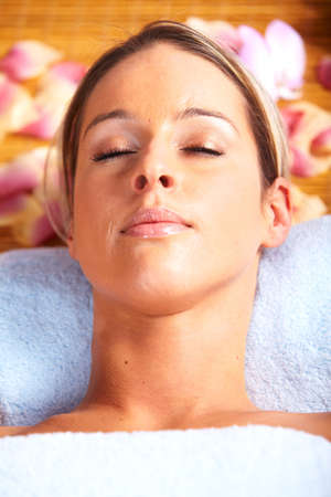 dayspa: Young woman in Spa massage salon  Stock Photo