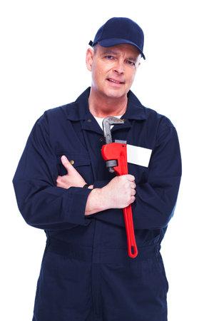 Professional plumber 版權商用圖片 - 15396486