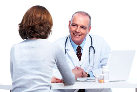 doctor with pills: Medical doctor  Stock Photo