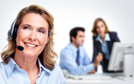customer service representative: Customer service representative woman  Stock Photo