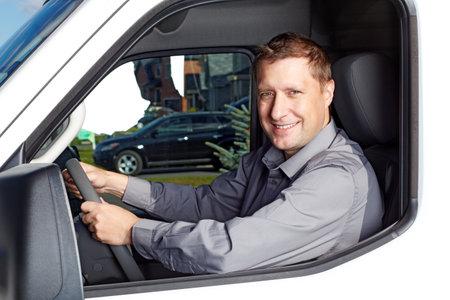 Chauffeur de camion Handsome Banque d'images