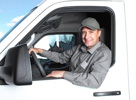 corriere: Camionista Handsome