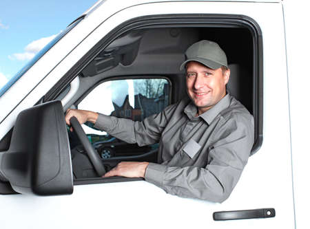 Handsome truck driver  Stock Photo - 15396285