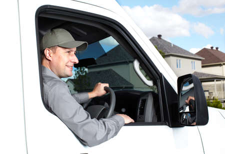 Handsome truck driver Stock Photo - 15396282