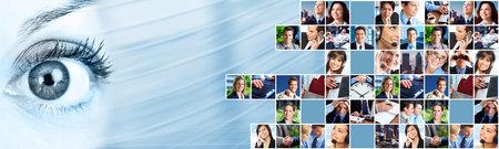 Mensen uit het bedrijfsleven team collage