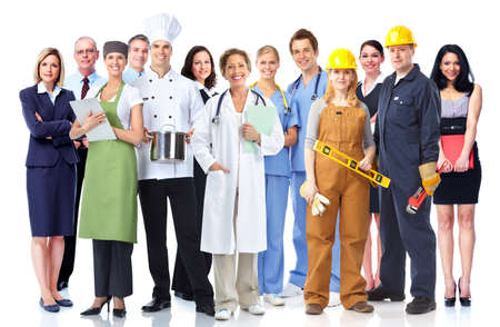 group study: Group of industrial workers  Stock Photo