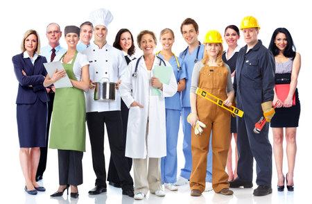 grupo de hombres: Grupo de trabajadores de la industria