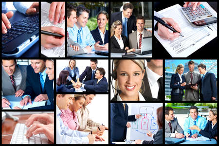 Business people collage  photo