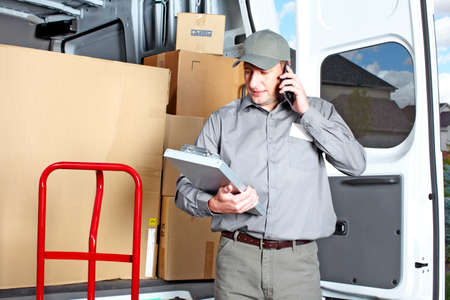Delivery postal service man Stock Photo - 15441415