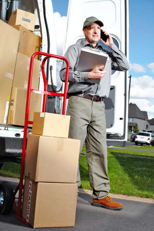 Delivery postal service man  Stock Photo - 15441413
