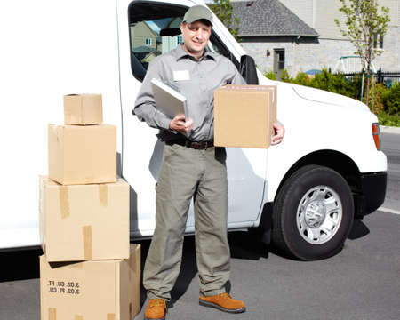 Delivery postal service man Stock Photo - 15441393