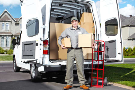 Delivery postal service man  Stock Photo - 15441417