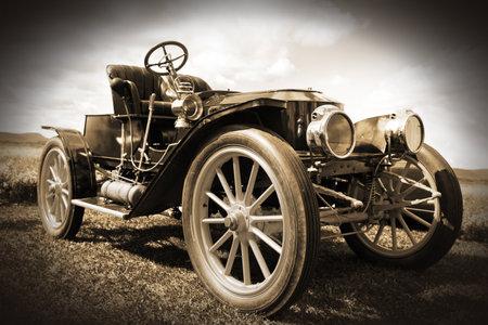 auto old: Retro coche Foto de archivo