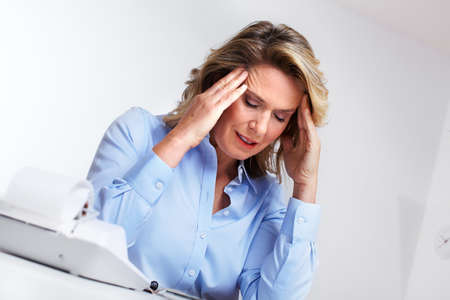 Business woman having a headache  photo