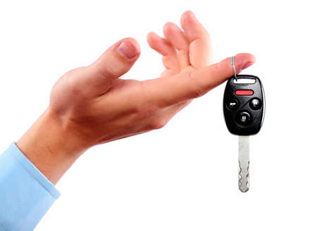 Leasing: Hand with a car key
