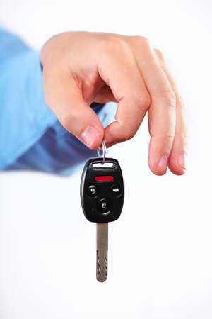 Hand with a car key  Stock Photo - 15705641