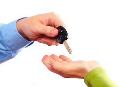 Hand with a car key Stock Photo - 15705517