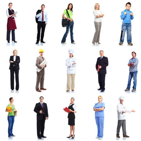 company job: Group of workers people set