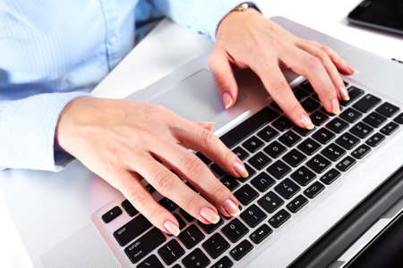 Hands with a computer keyboard  Imagens