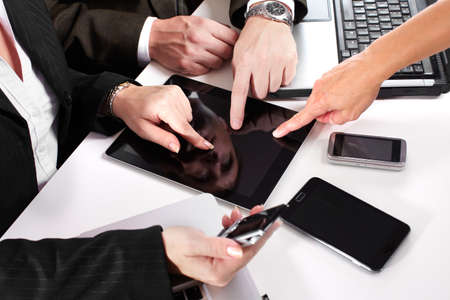 Business people group working with laptop  Stock Photo - 15705966
