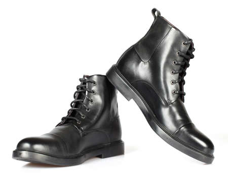 foot fetish: Black man shoes  Stock Photo