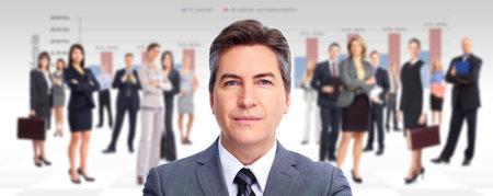 expert comptable: Homme d'affaires ex�cutif et un groupe de gens d'affaires