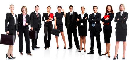 흰색 배경 위에 절연 비즈니스 사람들이 비즈니스 팀의 그룹