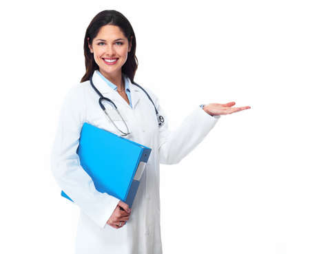 Medical doctor woman  Isolated on white background  Imagens