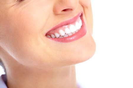 Beautiful young woman smile. Dental health.