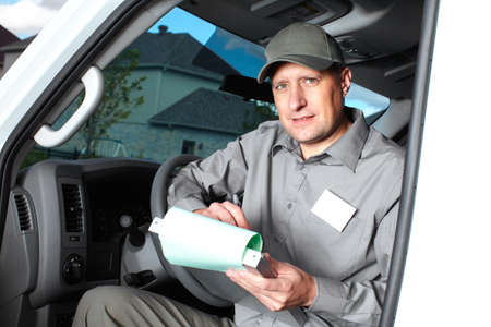 Handsome truck driver  Stock Photo - 16185174