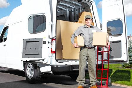 Delivery postal service man Stock Photo - 16185185