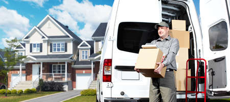 Delivery postal service man  Stock Photo - 16185158