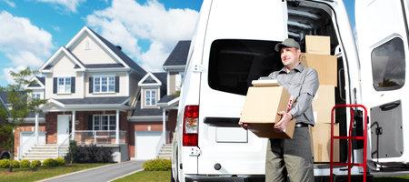 Delivery postal service man Stock Photo - 16185158