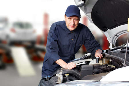 Professional auto mechanic  Stock Photo - 16184925