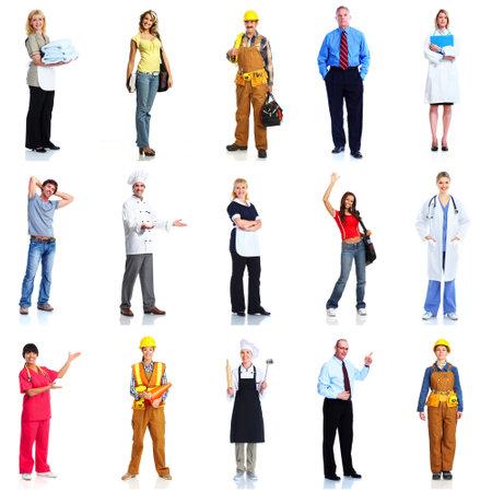 Grupo de personas trabajadoras establecido Foto de archivo - 16184882