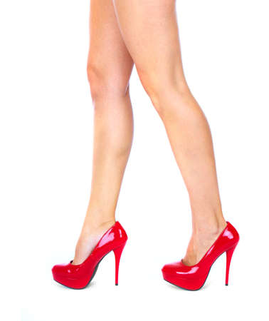 Woman legs with a red sexy shoes Stock Photo - 16184766