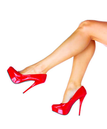 Woman legs with a red sexy shoes  Stock Photo - 16184746