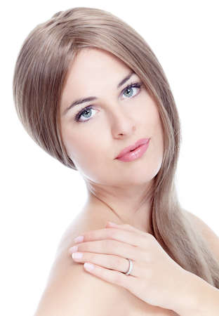 Portrait of beautiful young girl with clean skin  Stock Photo - 16184935