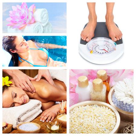 Beautiful Spa massage collage Stock Photo - 16193555
