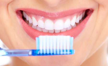 tooth brush: Beautiful woman smile