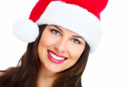 Santa helper Christmas girl  Zdjęcie Seryjne