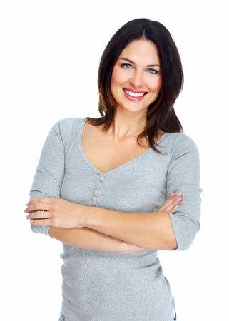 belle brunette: Portrait de jeune femme belle