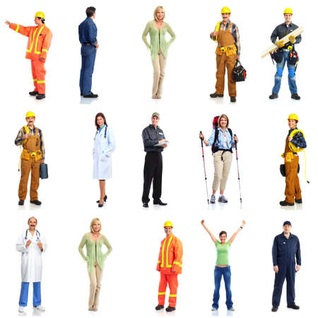 Group of workers people set Stock Photo - 16336188