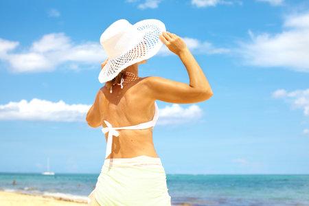 Woman on the beach Stock Photo - 16336249