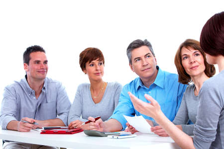 Group of business people working Stock Photo - 16336246
